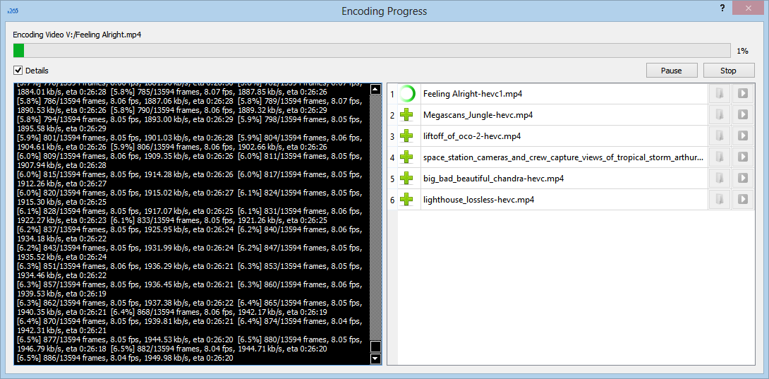 x265 Encoder Progress